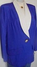 Purple Cream Horse Show Hobby Halter Jacket Plus Size 14W - $50.00