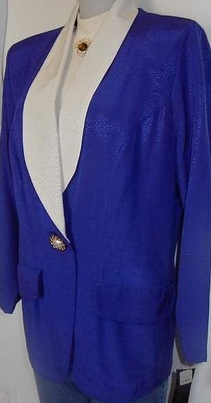 Purple Cream Horse Show Hobby Halter Jacket Plus Size 14W