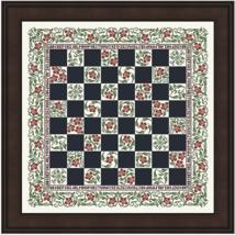 Floral Checkerboard MBT063 cross stitch chart My Big Toe Designs - $14.00