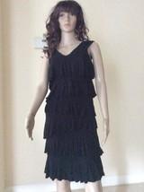 INC INTERNATIONAL CONCEPTS BLACK LAYERED SLEEVELESS OPEN DRESS SIZE SMALL - $9.50