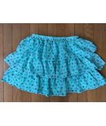 * childrens place aqua blue purple floral print chiffon skirt large 10 - 12 - $7.03