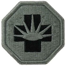 GENUINE U.S. ARMY PATCH: EIGHTH MEDICAL BRIGADE - EMBROIDERED ON ACU - PAIR - $20.77