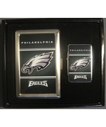 PHILADELPHIA EAGLES NFL CLASSIC LOGO CIGARETTE CASE WALLET LIGHTER GIFT ... - $15.79