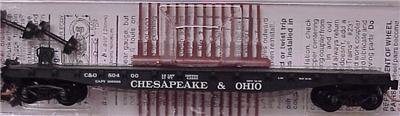Micro Trains 45100 C&O Flatcar 80400