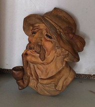 Antique Tyrol Austria Austrian black forest wood carved mask Nikolaus Kr... - $80.00