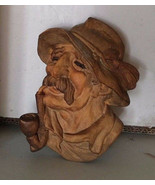 Antique Tyrol Austria Austrian black forest wood carved mask Nikolaus Kr... - $80.00