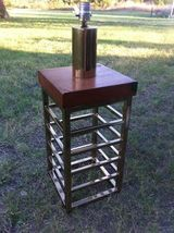 Vintage Brass Wood Mid Century Tower Hollywood ... - $199.99