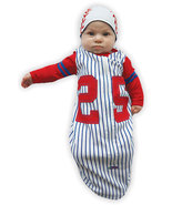 0-6 Months Baby's Baseball Bunting and Cap Set - $30.00