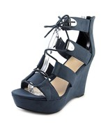 Bar III Sahara Women US 10 Blue Wedge Sandal - $79.20