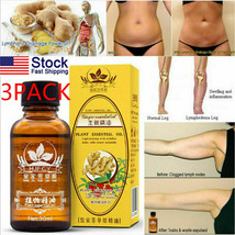 3PACK 100% PURE Plant Therapy Lymphatic Drainage Ginger Oil Massage Esse... - $9.99