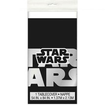 Star Wars Classic Plastic Tablecover Black Birthday Party Supplies 1 Per... - $6.44