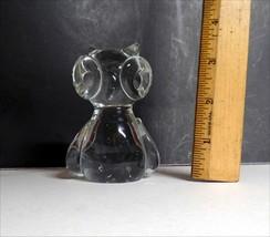 "VINTAGE Napcoware Studio Art Glass OWL  3.75""  image 2"