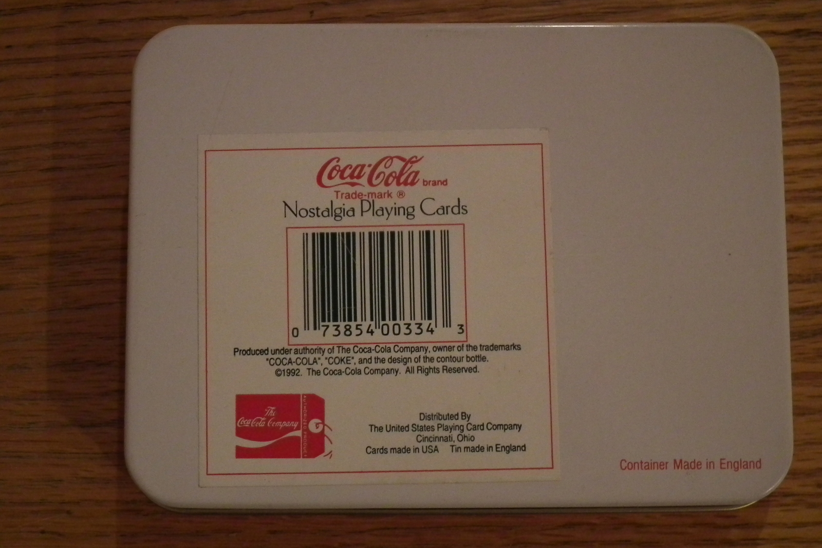 1992 2 Deck's of Coca Cola Xmas Playing Cards in Decorative Tin