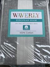 1 Waverly Euro Pillow Sham Kensington Bloom New Stripe - $24.29
