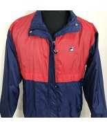 VTG Fila Windbreaker Jacket Colorblock Coat 90s Bjorn Borg Grant Hill Large - $42.49