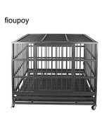 """fioupoy 48"""" Heavy Duty Pet Dog Cage Strong Metal Kennel Crate Folding Pl... - $288.88"""