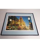 VINTAGE 1970s Chinatown at Night San Francisco Framed 16x20 Poster Display - $79.19