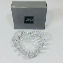 Vintage Mikasa Crystal Romantic Jewel Heart Trinket Dish WY365/504 New in Box - $7.60