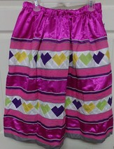 Native American Seminole Women's Hot Pink Patchwork Ric Rac Skirt 2 Row ... - $69.99