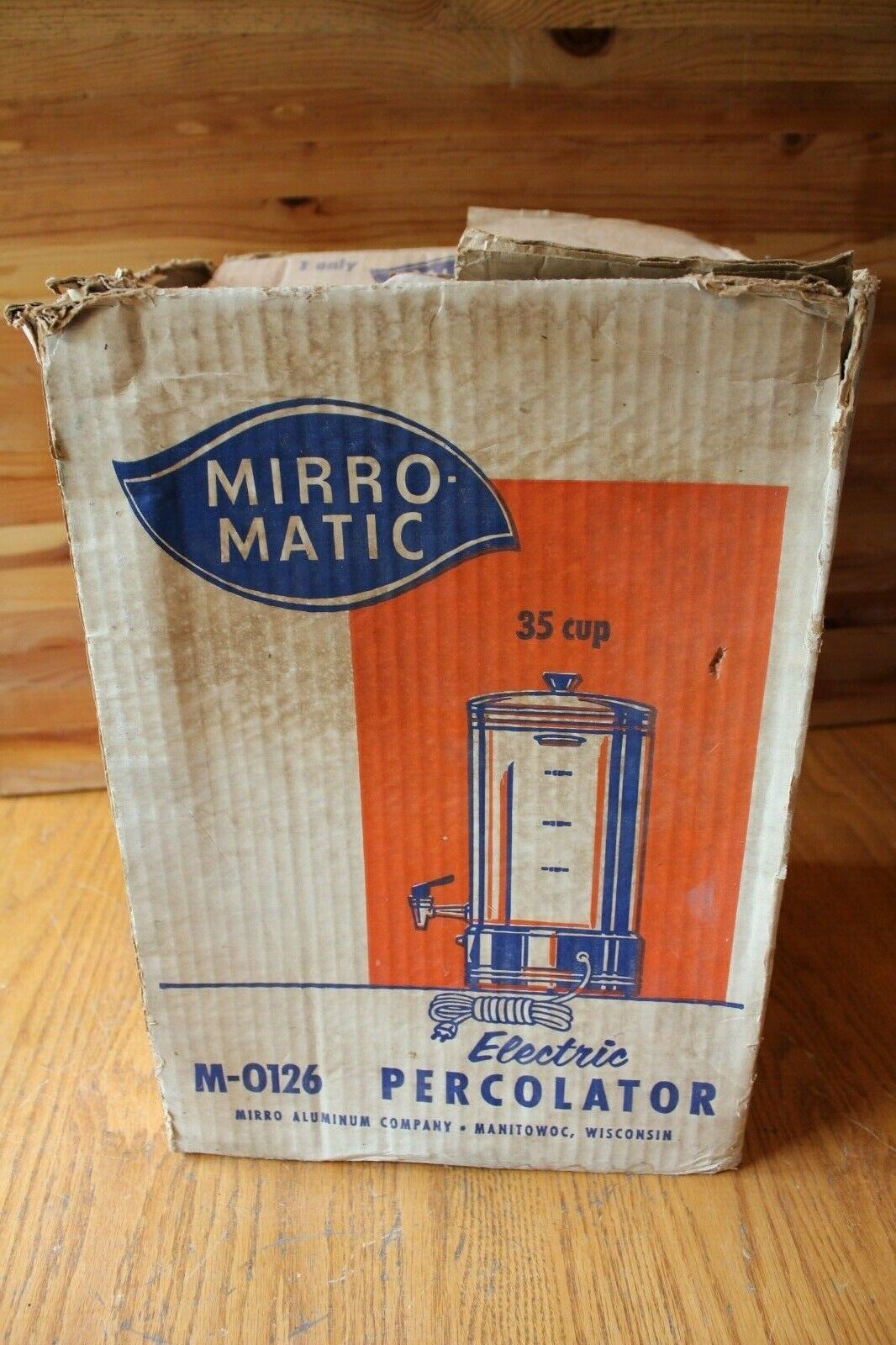 Mirro Matic Coffee Percolator Urn Model M-0126 35 Cup Electric NO POWERCORD