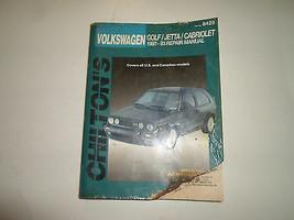 1990 91 92 1993 Chiltons Volkswagen Jetta Cabriolet Reparatur Manuell Be... - $19.74