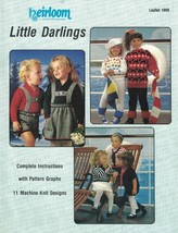 Heirloom Little Darlings Leaflet 1095 Machine Knits Scottie Dogs Wolleho... - $14.10