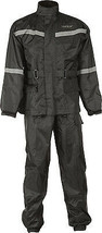 Fly Racing MOTORCYCLE 2-PC Rainsuit Black Md - $79.95