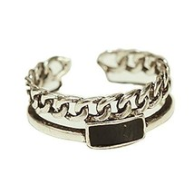 Fashion Ring Silver Ring Simple Tail Ring Opening Ring Accessories Retro
