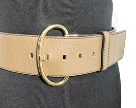 Banana Republic Genuine Leather Wide Belt Dark Brown Woman's Small Italy  - $24.95