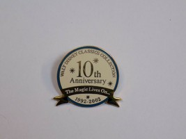 Walt Disney Pin Classics Collection 10th Anniversary 1992 - 2002 Gold Exclusive - $16.99