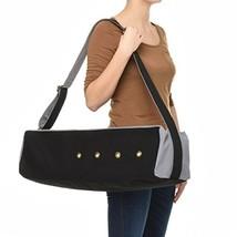 Dusky Leaf Cubist Yoga Bag - Canvas Yoga Mat Bag for Large Yoga Mats - Charcoal