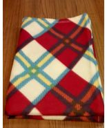 Soft Fleece Blanket, Red, Yellow, White, Blue Plaid Blanket, Child, Teen... - $18.00