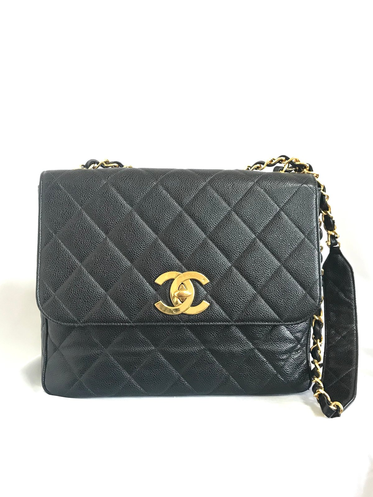 4c12febb3007a2 Vintage Chanel classic large black caviar and 50 similar items. Il  fullxfull.1519150917 26jq