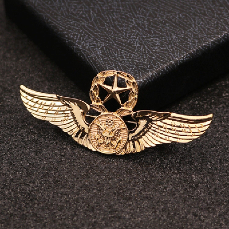 New Brooch Pin Men Lapel Suit Stick Collar European And American Militant Badge image 3