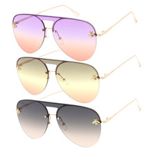 MLC Eyewear Classic Fashion Flat Top Aviator Reflective Sunglasses A78/B... - $12.00
