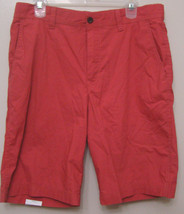 IZOD Seaport Poplin Red Saltwater Flat Front Casual Chino Shorts 38 Regular - $24.95