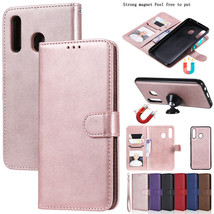 For Samsung A20 A01 A11 A21S Removable Magnetic Leather Wallet Stand Cas... - $63.45