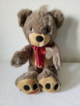 "Precious Moments 15"" Charlie Teddy Bear Plush Gray Brown 1993 Stuffed An... - $22.28"