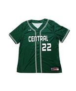 Under Armour Central Tigers Baseball Henley SS Jersey Boy's L XXL Green - $12.49