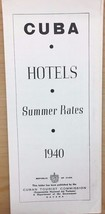 CUBA HOTELS Summer Rates 6-page brochure with rates (circa 1940) - $12.86