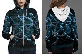 [Brand New For Women] vicious circle Satanic Zipper Hoodie - $48.99+