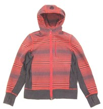 Lululemon Core Hoodie Sweatshirt Mini Akido Stripe Flaming Tomato Deep C... - $75.54