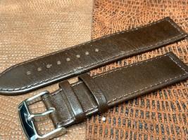 22mm Italian genuine leather watch band   Brown Premium calf fit Panerai - $21.12