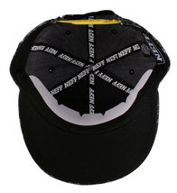 Neff Headwear Black Leopard Neff Rock Logo Snapback Baseball Hat Cap F13018 NWT image 7