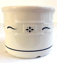 Longaberger Pottery Woven Traditions 1 Pint Crock Ivory & Blue Farmhouse... - $8.99