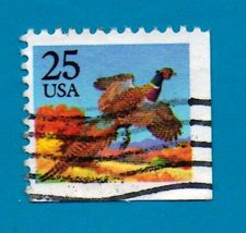 Scott  #2283 Used US Postage Stamp (1988) 25 cent Pheasant - $1.99