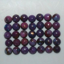 Purple Copper Turquoise 4mm & 6mm Cabochon Round Loose Gemstones - $9.00+