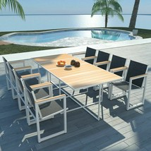 "vidaXL Outdoor Dining Set 9 Pieces WPC 86.6""x39.4x28.3"" Patio Garden Fur... - $691.99"