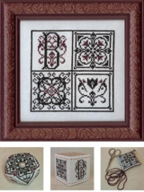 Monogram Block MBT072 cross stitch chart My Big Toe Designs - $8.00