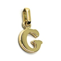 SOLID 18K YELLOW GOLD PENDANT MINI INITIAL LETTER G, 1 CM, 0.4 INCHES - $103.00